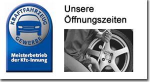 Unsere Öffnugszeiten H+S KFZ Werkstatt, H+S Kraftfahrzeug GmbH Würzburg und Scherpf Sven KFZ Werkstatt Würzburg Winterhäuserstr.95